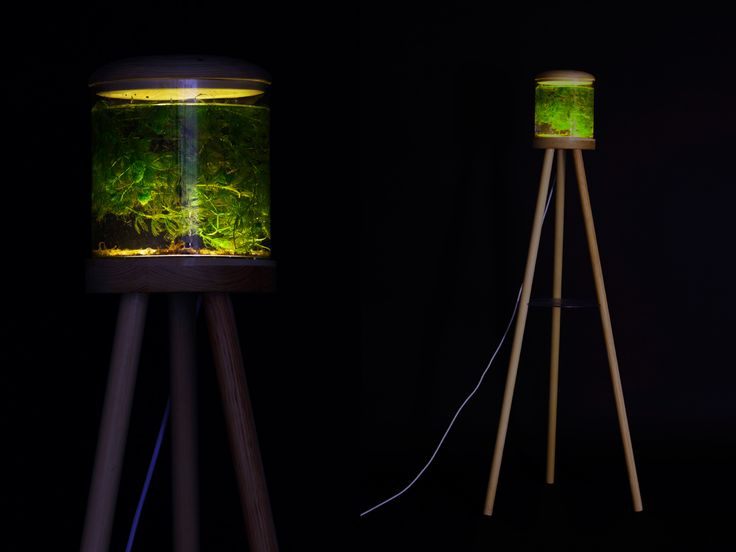 A lamp inspired by looking into a deep lake.  Designer: Veronica Rönn