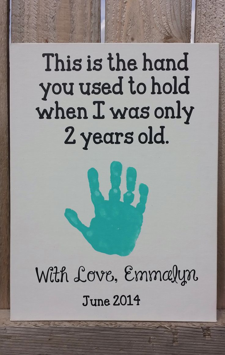 Emmalyn's Handprint Craft-2 Years Old: June 2014 Father's Day/Daddy's Birthday
