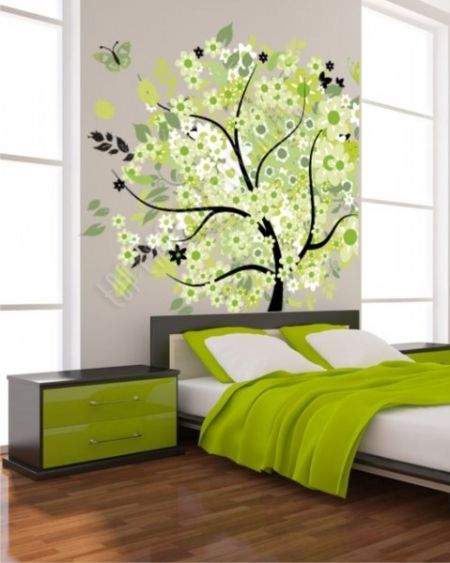 Zöld fa nyomtatott kép
