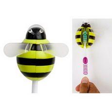 Soporte para cepillo de dientes con diseño en forma de abeja