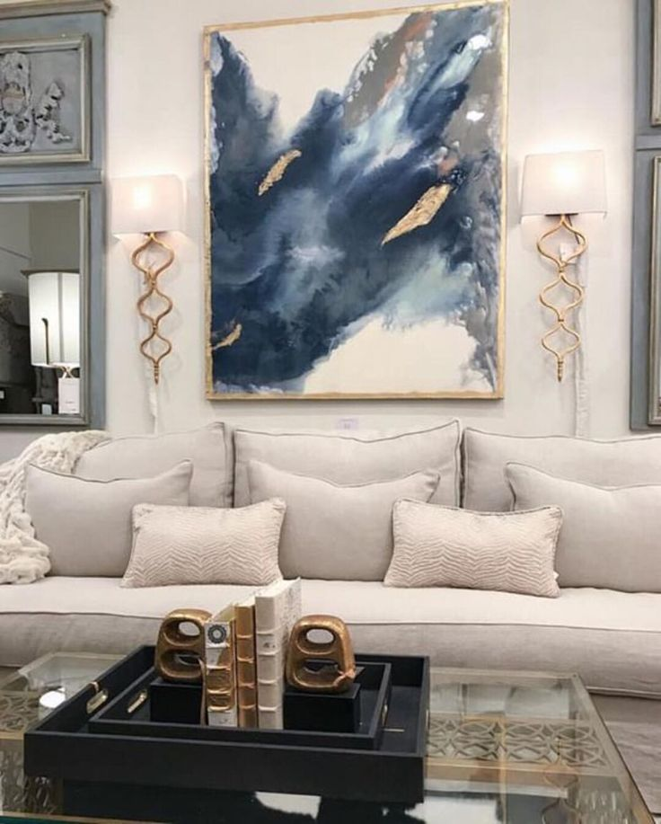 "1,149 Likes, 18 Comments - Rebecca Robeson (@robesondesignteam) on Instagram: ""Bare walls? Dress them up! Use art to decorate and balance a room. In this photo the art creates a…"""