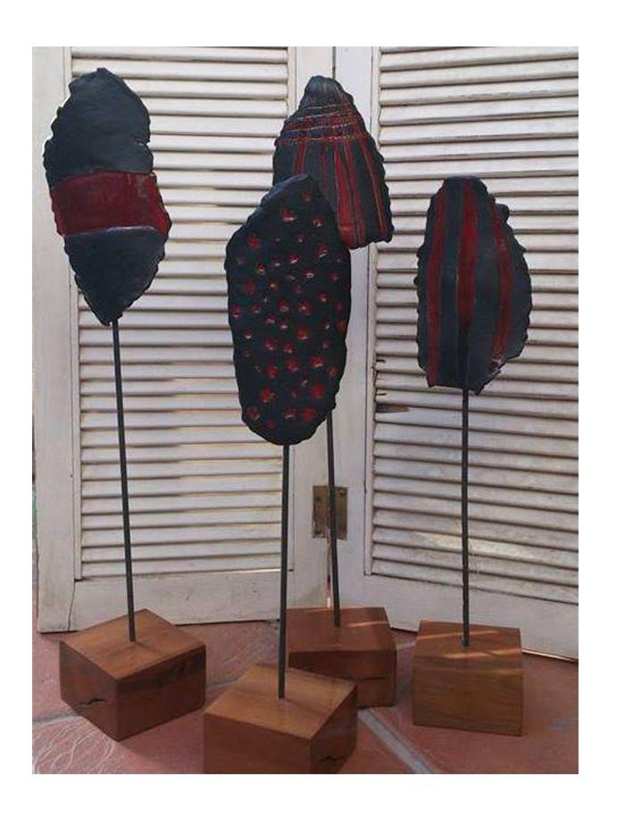 Mascaras inspiradas en la cultura Selknam, Chile
