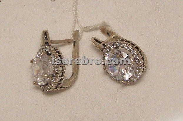 Серебряная подвеска со вставкой из фианита - 324 грн. фианит вес 7,60 серьги