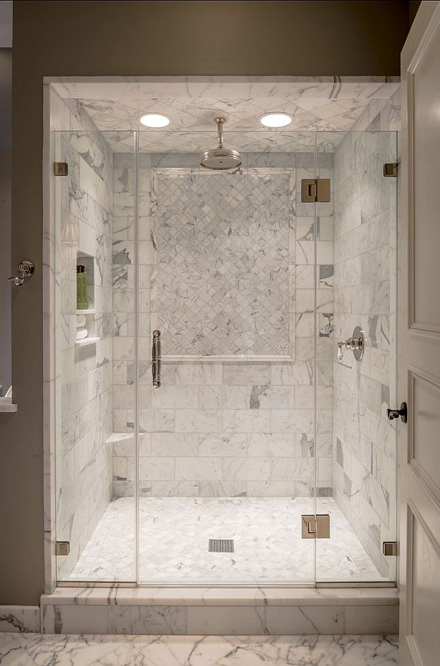 Bathroom Shower Design. Beautiful Marble Shower. #Bathroom #Shower #Marble