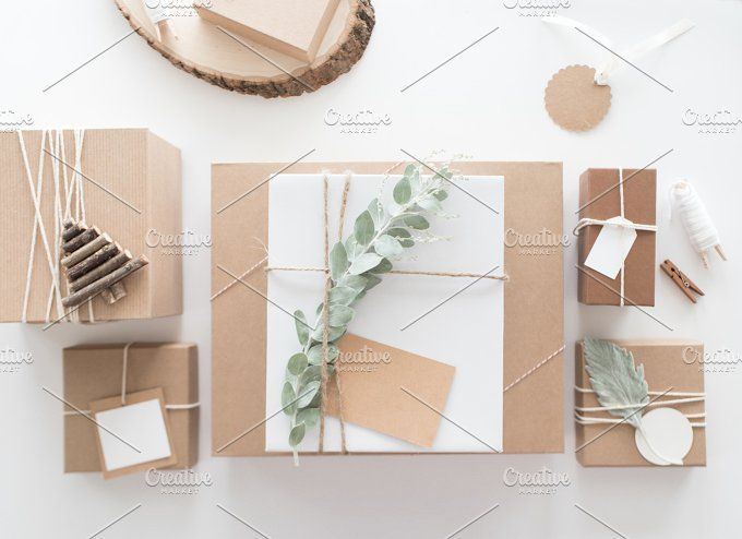 Styled Christmas Present Photo by TwigyPosts on @creativemarket