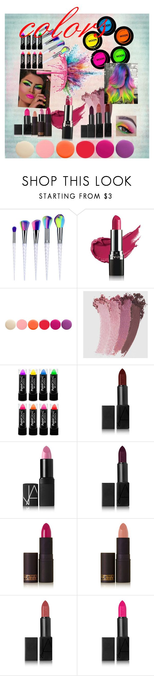 """""""colors"""" by li-directioner on Polyvore featuring beauty, Avon, Deborah Lippmann, Gucci, NARS Cosmetics, Lipstick Queen and Givenchy"""