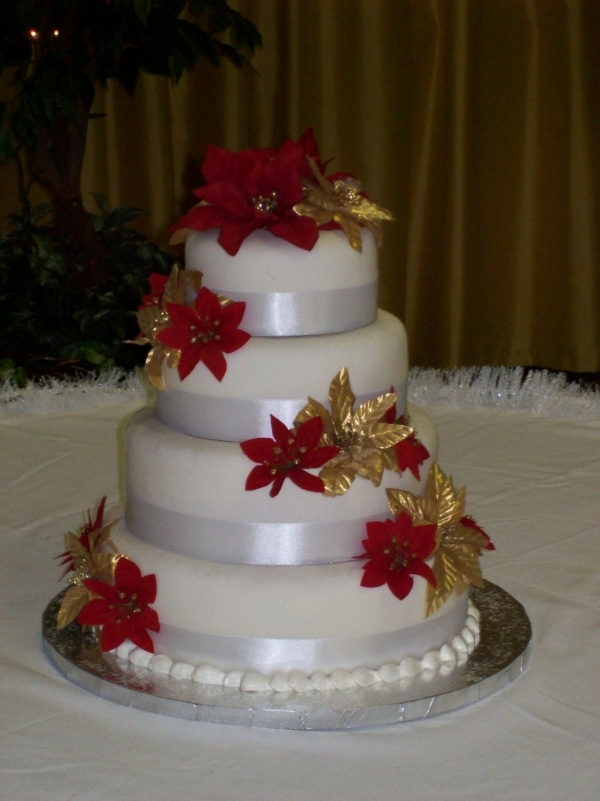 154 Best Christmas Wedding Cakes Images On Pinterest