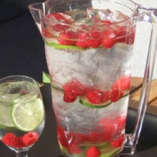 Raspberry lime flavor water