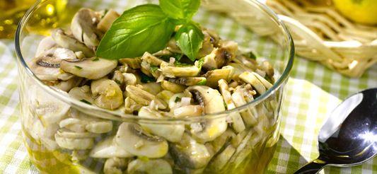 Delhaize - Gemarineerde rauwe champignons