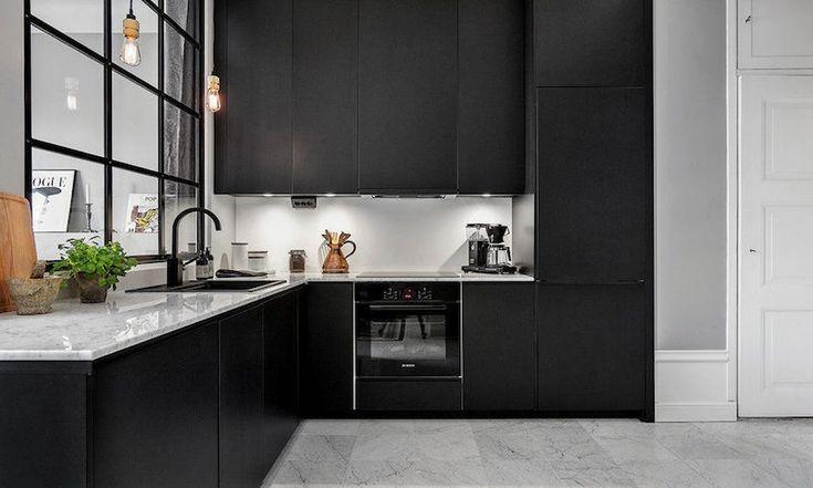 Cuisine noire la nouvelle tendance deco for Cuisine noir mat