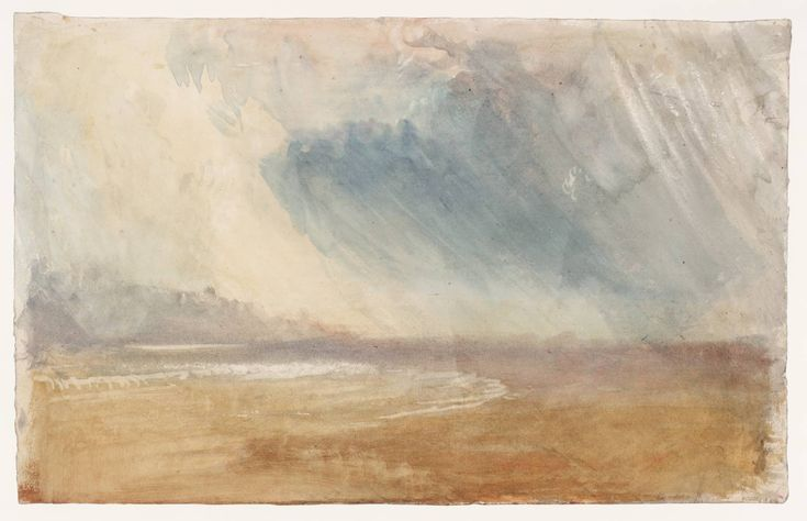 omg! how good is this turner! Joseph Mallord William Turner, 'Rain Clouds Sweeping over a Beach: possibly near Dunstanbrough Castle' c.1825-30, Tate