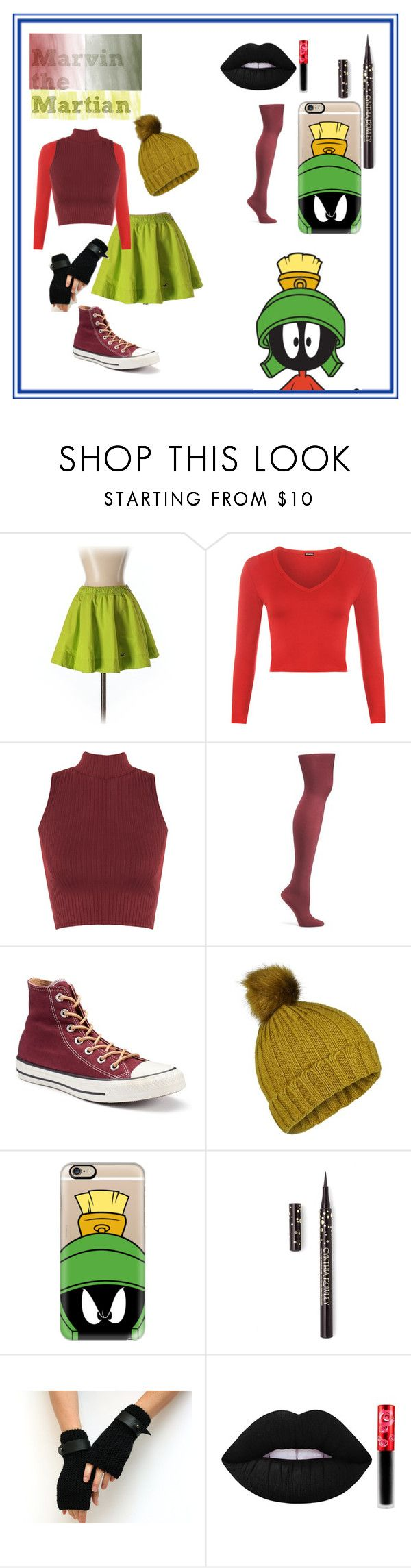 """Marvin the Martian"" by jmclarty on Polyvore featuring Hollister Co., WearAll, Old Navy, Converse, Miss Selfridge, Casetify, Cynthia Rowley, Lime Crime, looneytunes and marvinthemartian"