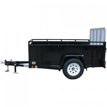 """CT5080G-24 --- CROFT 5' X 8' Open Box Utility Trailer with 24"""""""" Sides"""