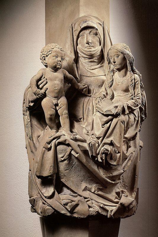 Tilman Riemenschneider, Enthroned St. Anne w the Virgin and the Christ child.1490-1495.sandstone.[Wurzburg]   Flickr - Photo Sharing!