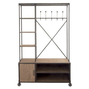 """Check out this item at One Kings Lane! 72"""" Tall Clothing Rack & Storage Unit"""