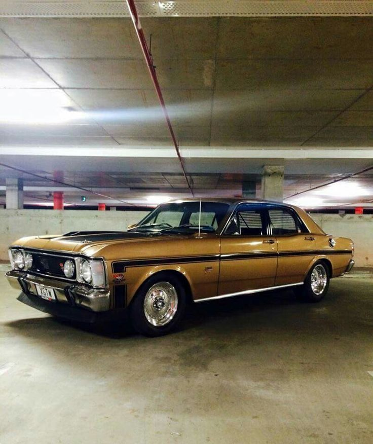 Gold Ford Falcon GT