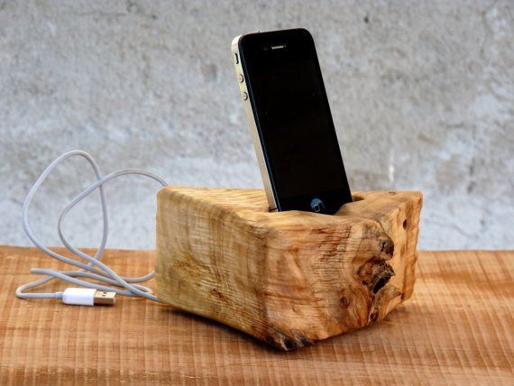 SUPER SALE Wooden iPhone 4,5 Docking station, Wood iPhone ...