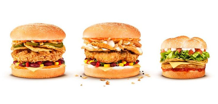 KFC New Zealand's  limited-time Mexican Range of sandwiches: The Mexican, Mexican Zinger, and Mexican Snack