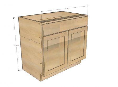 """36"""" Sink Base Kitchen Cabinet - Momplex Vanilla Kitchen"""