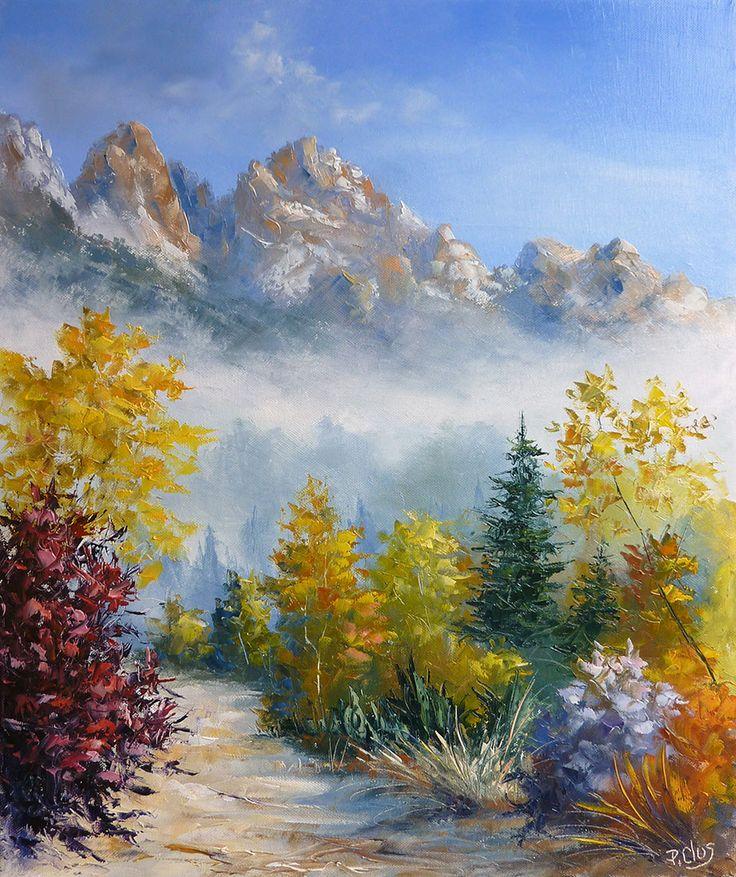 1000 id es sur le th me dessin montagne sur pinterest for Peindre sur de la peinture