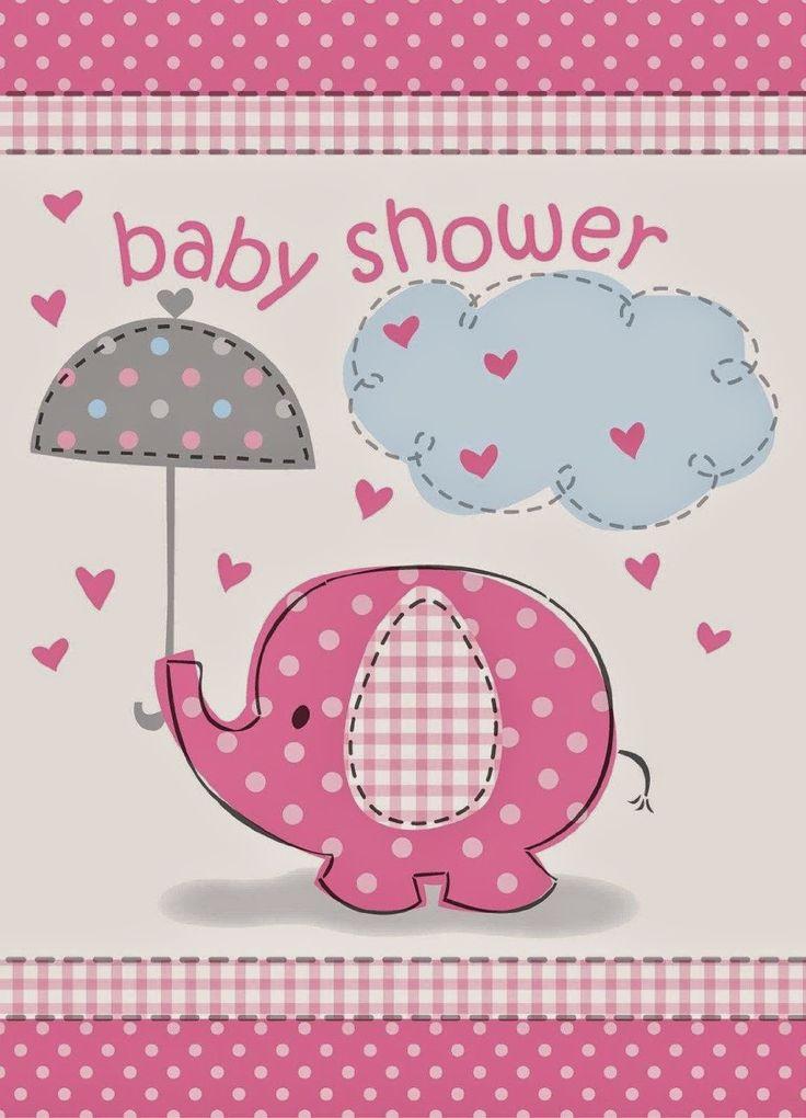 Umbrellaphants Pink Baby Shower Invitations (8) $1.69  http://my-babyshowerclipart.blogspot.com/2014/08/unique-baby-shower-invitations.html