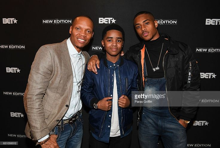 Ronnie Devoe, Myles Truitt, and Keith Powers attend BET's Atlanta screening of 'The New Edition Story' at AMC Parkway Pointe on January 5, 2017 in Atlanta, Georgia.
