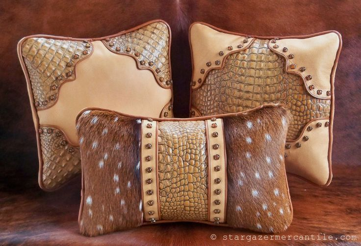38 Best Western Leather Pillows Crosses Etc Images On