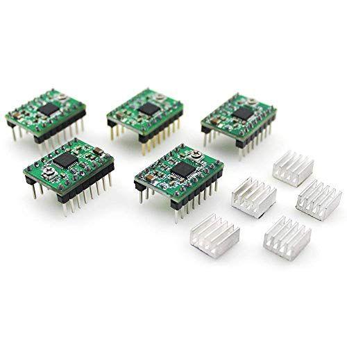 confezione da 5/pz dissipatore di calore per stampante 3D RepRap Longruner A4988/Stepstick stepper Motor driver modulo