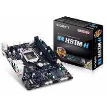 Placa Mãe Intel 1150 Ga H81m-h Hdmi/10/100/1000 Gigabyte