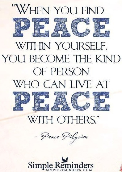 Peace quote via Hippie Peace Freaks on Facebook