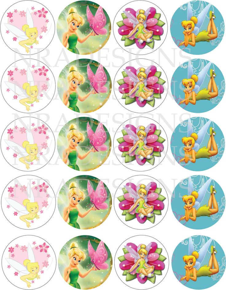 Tinkerbell Cupcake Toppers -DIGITAL FILE. $5.00, via Etsy.