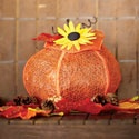 The Great Pumpkin  Pumpkin and sunflowers made from free standing lace ... cute :)