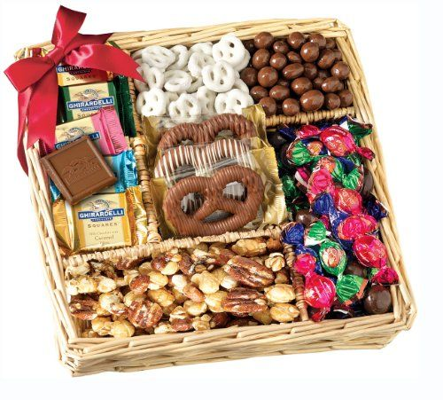 Broadway Basketeers Deluxe Chocolate and Nut Collection Gift Basket - http://mygourmetgifts.com/broadway-basketeers-deluxe-chocolate-and-nut-collection-gift-basket/