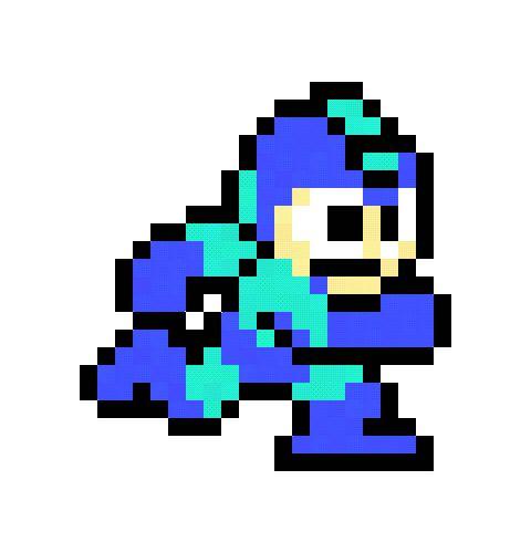 Megaman Running gif