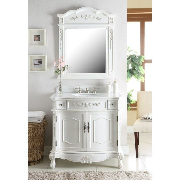 Gaskins 36 Single Bathroom Vanity Set With Mirror Country Bathroom Designs Country Style Bathrooms French Country Bathroom