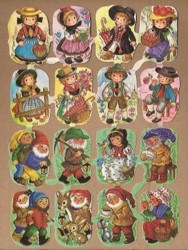 Kruger 171/271-281 Dwergen & Folklore poezieplaatjes