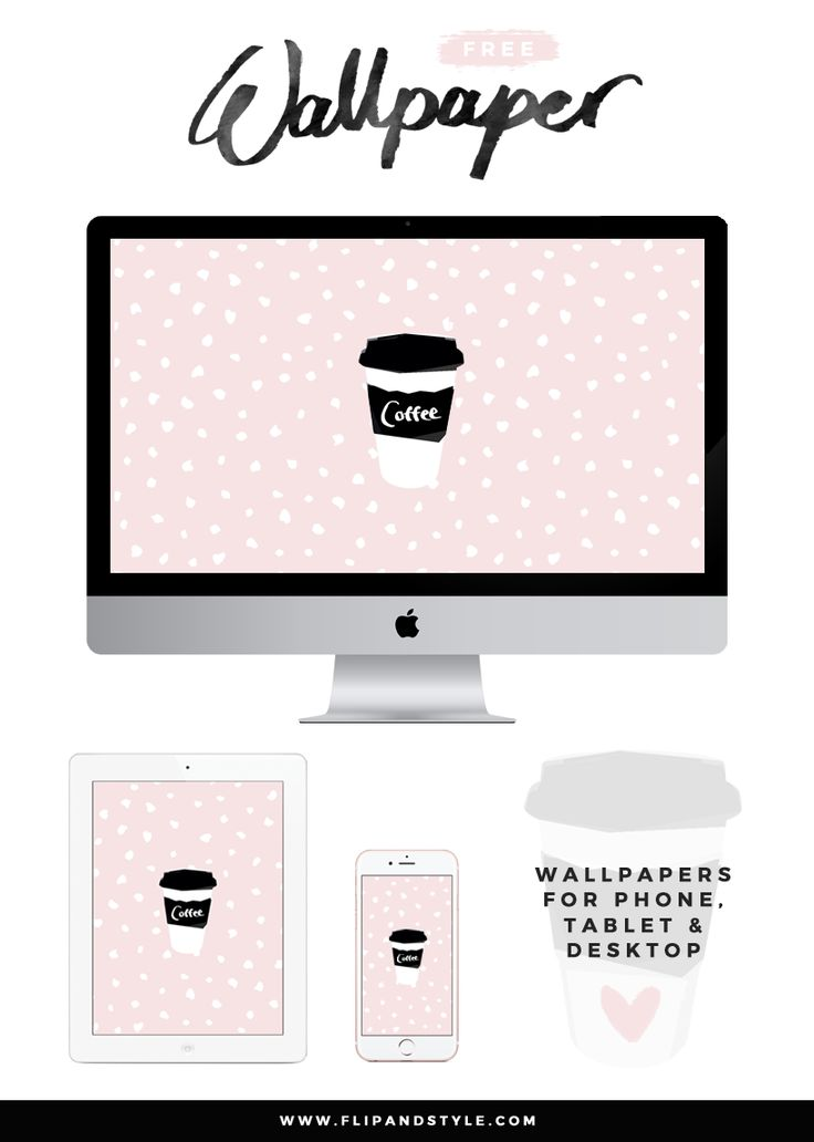Free Wallpapers to download for Desktop, Tablet and Phone | Pink Coffee - http://www.flipandstyle.com/2016/09/free-wallpaper-coffee.html