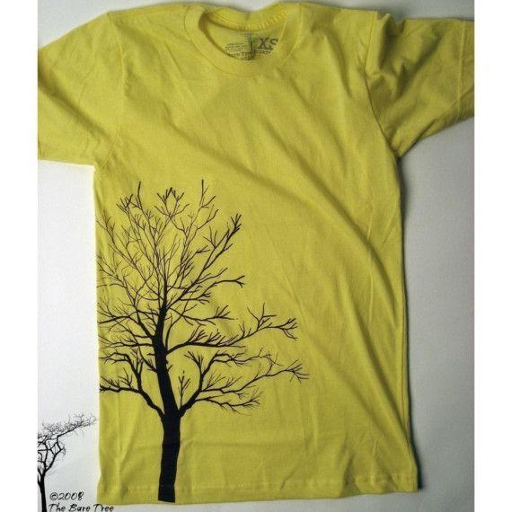 Bare Tree Tshirt on Lemon American Apparel by BareTree on Etsy
