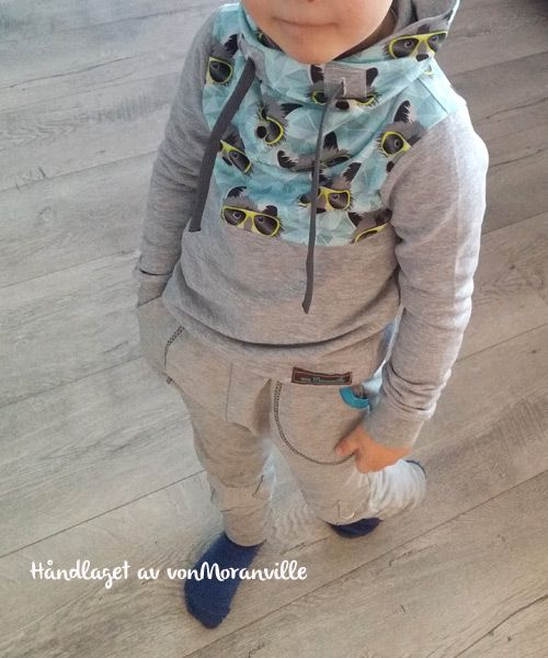 Cozy wintershirt. Love the cool raccoon-fabric from Hamburger Liebe. Pattern: Mini Mister
