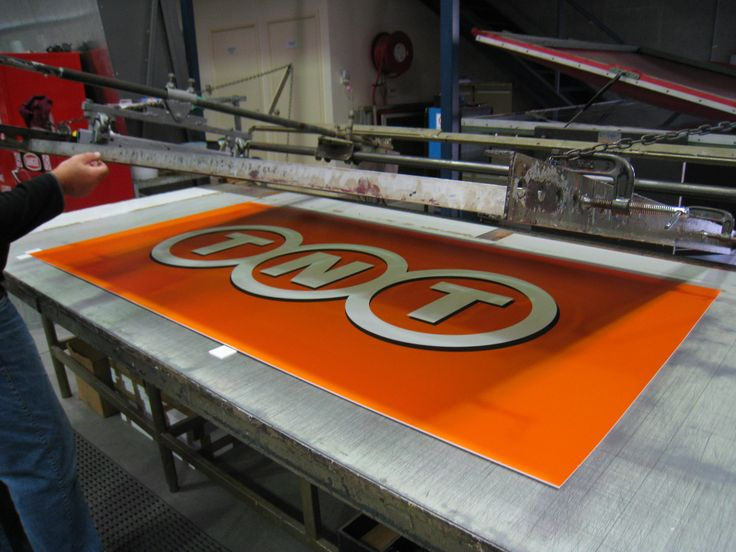Cunneen Signs - TNT Couriers; Screen printed sign