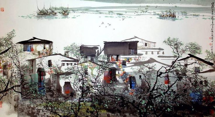 Liu Maoshan. Springtime in water village