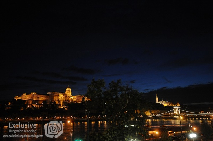 Budapest at night. Such a great backdrop for a wedding...