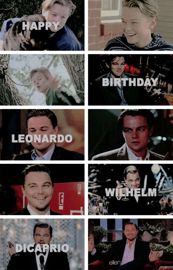 Happy 42nd Birthday Leonardo Dicaprio!!!