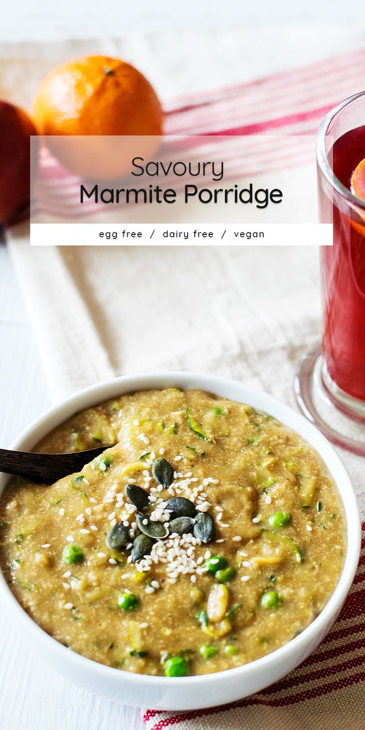 Marmite porridge - though you can use any yeast extract, branded or not - is a vegan savoury oatmeal recipe that you have to try, at least once! Dairy free, gluten free.