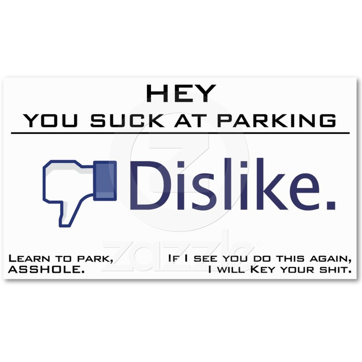 The 33 best parking card ideas images on Pinterest | Bad parking ...