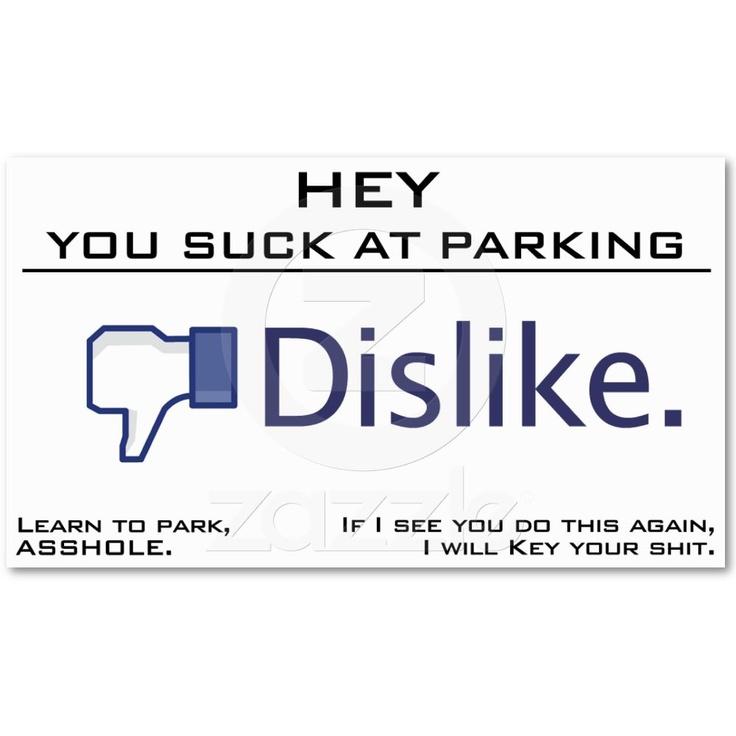 33 best parking card ideas images on Pinterest | Bad parking, Card ...