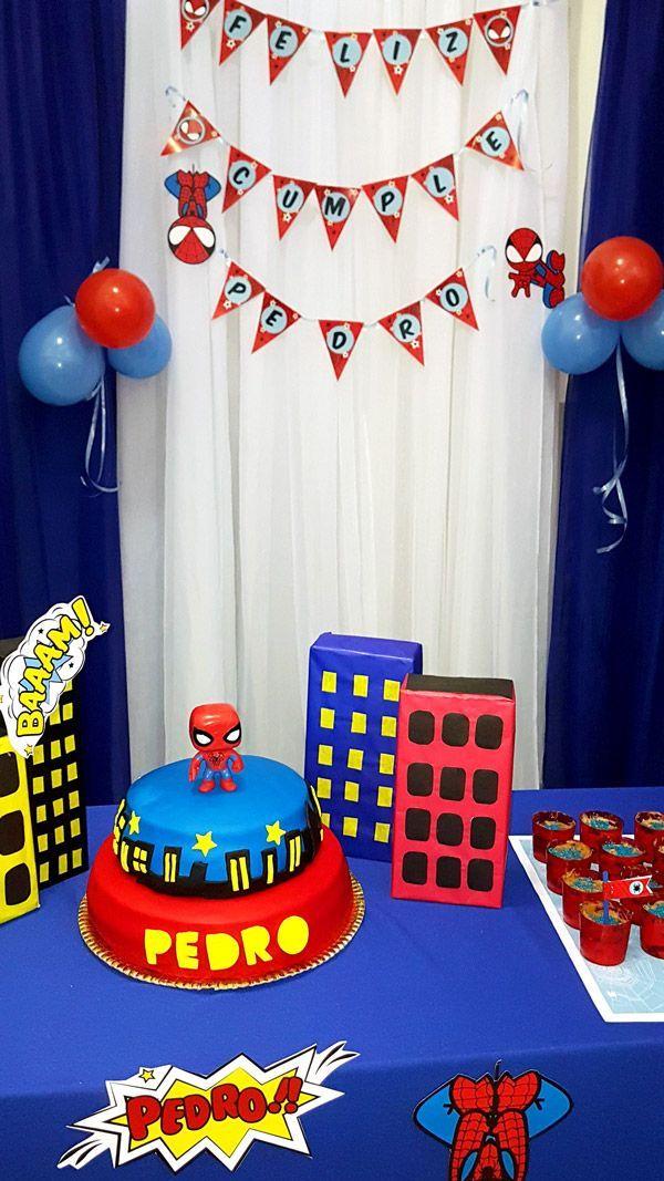 Decoraciones Imprimibles Del Hombre Araña Por Todo Bonito Piñatas De Spiderman Cumpleaños Hombre Araña Fiesta De Cumpleaños De Spiderman