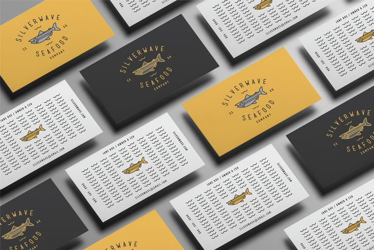 """Check out my @Behance project: """"Silverwave Seafood Company"""" https://www.behance.net/gallery/52274181/Silverwave-Seafood-Company"""