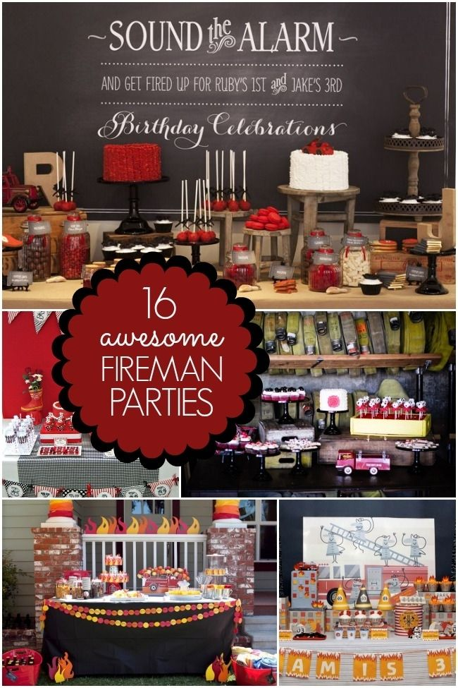 fireman party ideas fire truck birthday party www.spaceshipsandlaserbeams.com