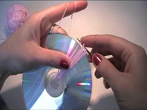▶ Anleitung - Mit einer CD eine Tasche häkeln 1